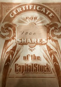 Market Capitalization = Shares times Price of Stock