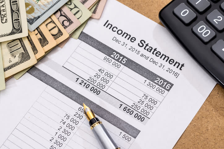 income statement format components and purpose arbor asset