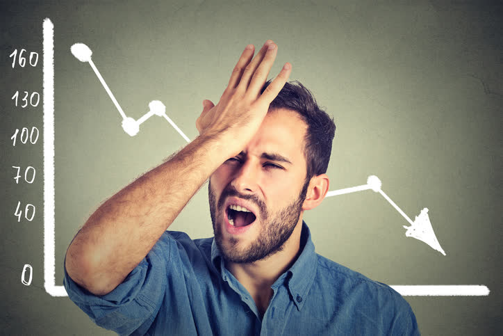 Investor Frustrated From Investment Mistakes
